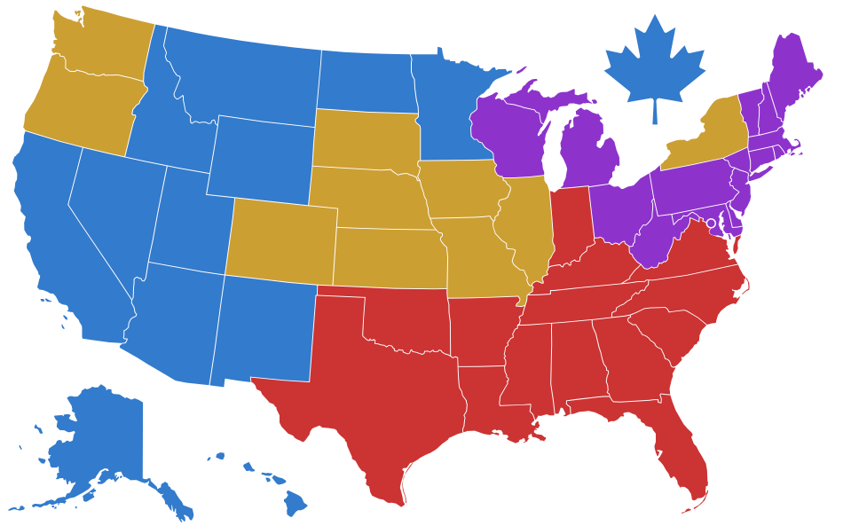 Contact Your Sales Rep - Us sales territory map